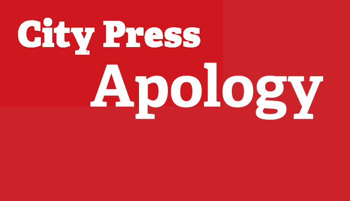 CITY PRESS APOLOGISES TO PROF. MBATI AND TO THE UNIVERSITY OF VENDA