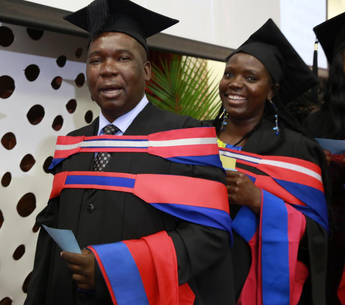 Vincent Demana gets his Masters degree with distinction