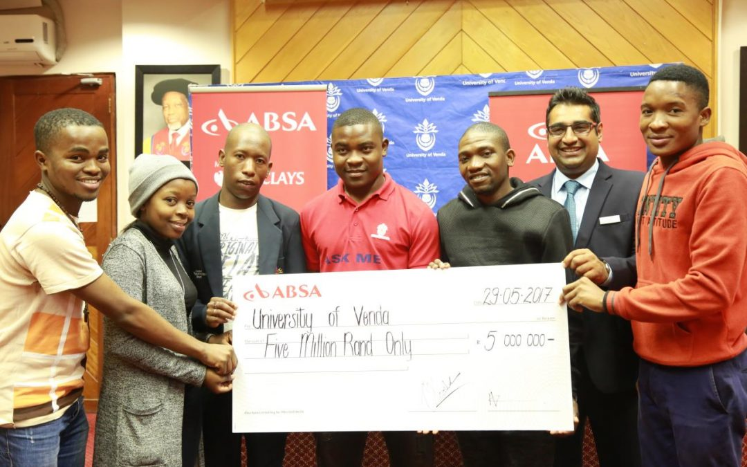 UNIVEN students to benefit from ABSA R5 million scholarship