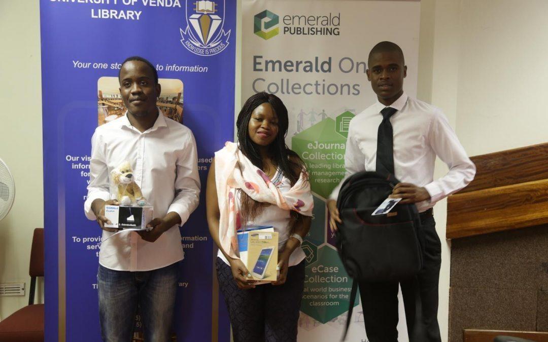 Emerald Publishing awards Univen quiz winners
