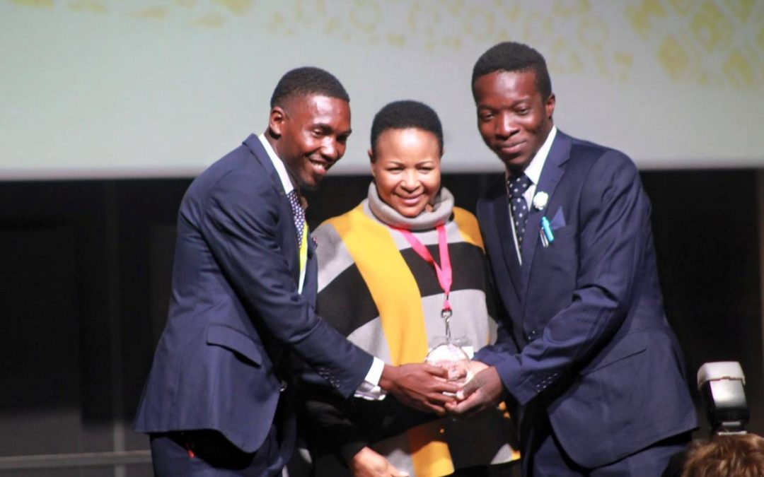 Enactus Univen Team is awarded 2018 first place winner for outstanding team growth