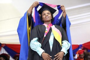 Nosipho Ngangani graduates Bachelor of Education in Educational Management with a distinction