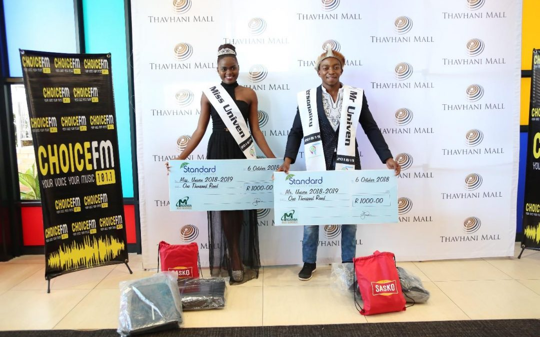 Newly crowned Mr and Miss Univen honoured
