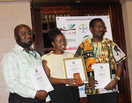 Univen nGAP Lecturer and PhD candidate receives the Soil Science Society of South Africa award