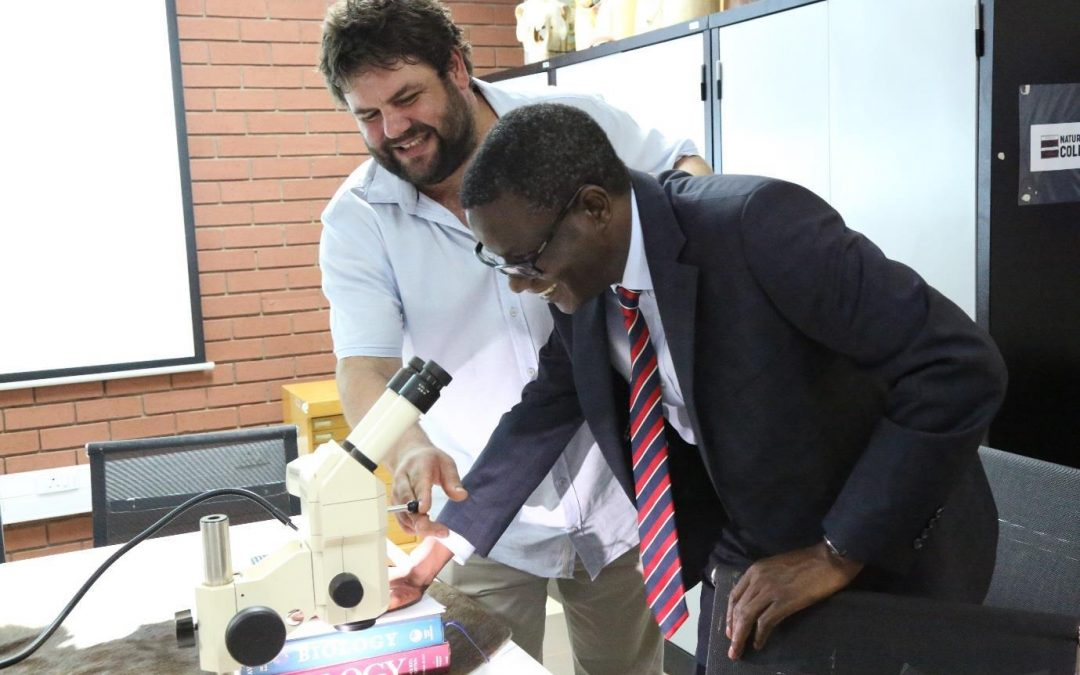 Dr Bernard Nthambeleni is thrilled by the SARCHI Museum and Resource Centre