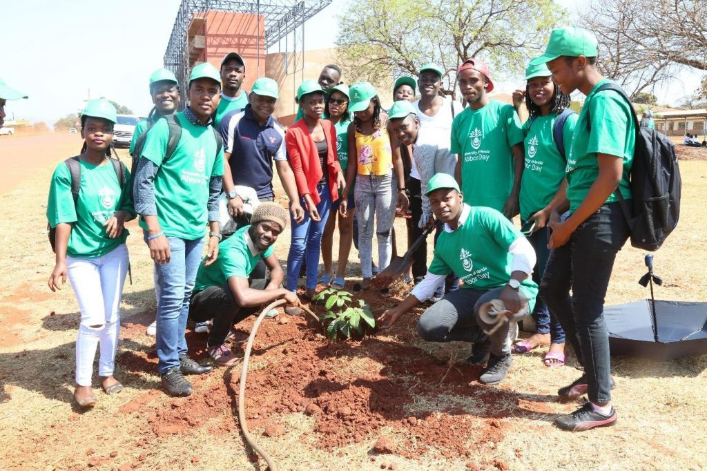 UGO plants Five trees to celebrate Arbor Day UNIVEN Students