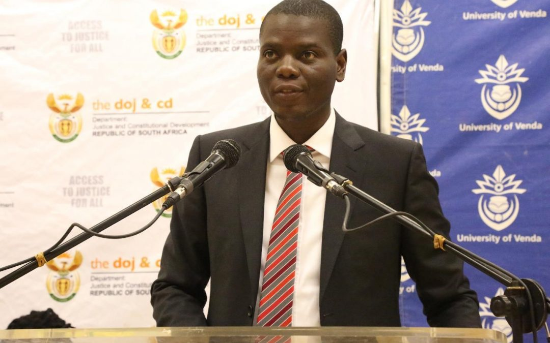 Department of Justice and Correctional Services should partner with universities to create ethical leaders- Minister Ronald Lamola