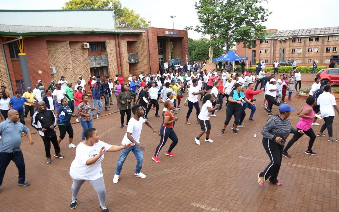 UNIVEN staff members participate in Employee Wellness Day to stay healthy