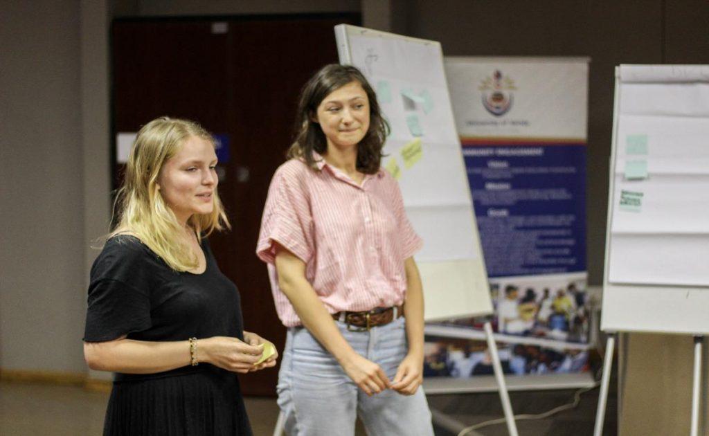 Natalia Skowronek and Alisha Kersbergen spent ten weeks at UNIVEN