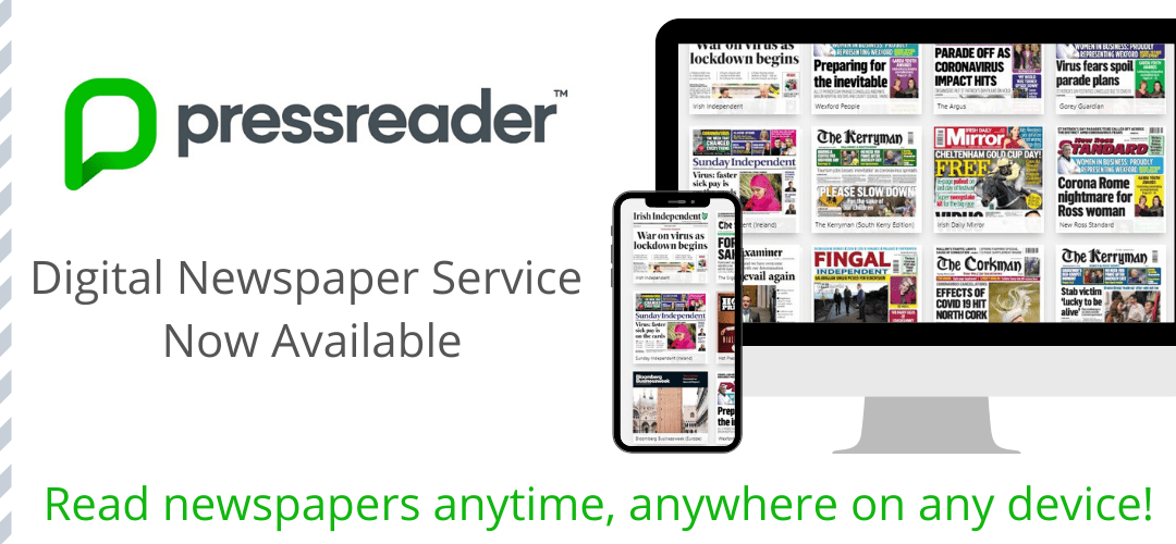 Press Reader – access to thousands of newspapers and magazines and is easy to read on any device