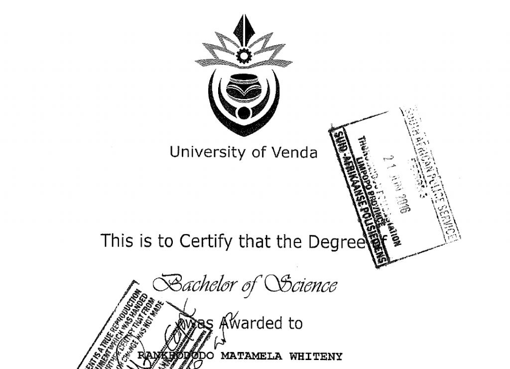 Confirmation of address form to courier degree / diploma certificates