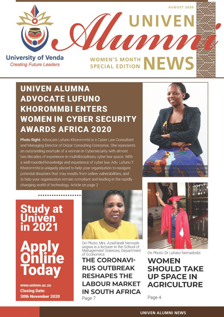 UNIVEN Alumni  Women's Month Special Edition